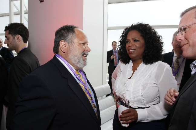 With Oprah at the Cable Show, June 30, 2011